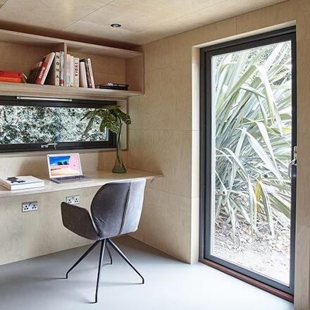 Construire un bureau de jardin maçonné