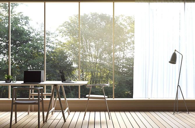 Construire un bureau de jardin lumineux