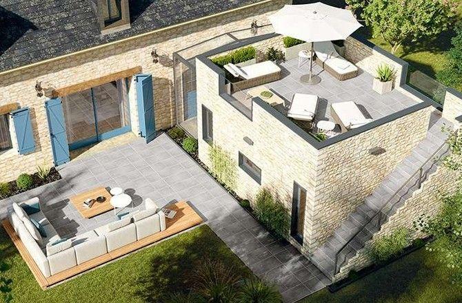 Extension en mix architectural