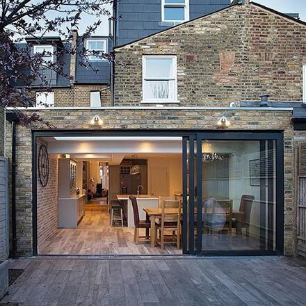 Extension en continuité architecturale
