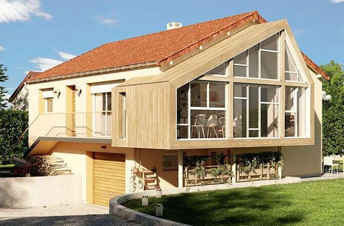 Extension latérale bois