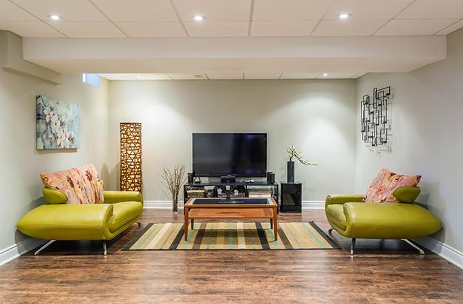 Extension en sous-sol pour un salon