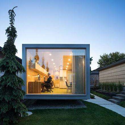 Construire un bureau de jardin vitré