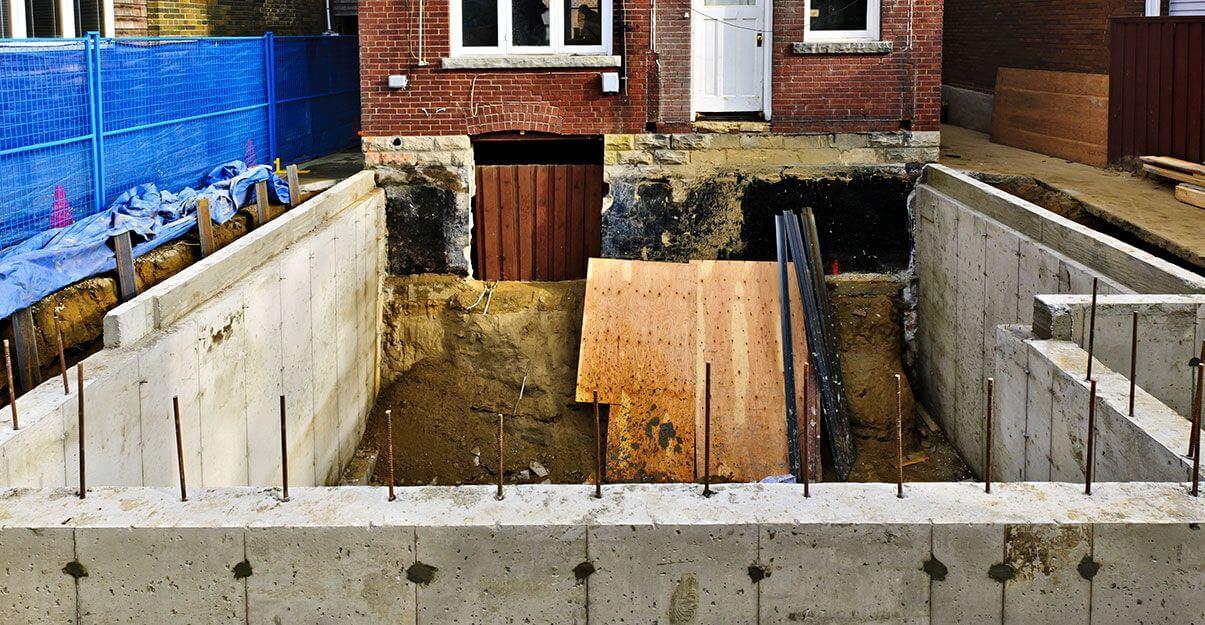 travaux extension sous-sol
