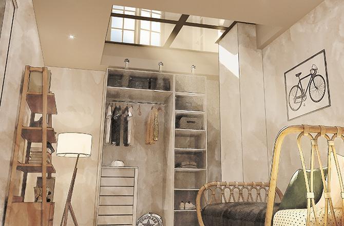 Extension en sous-sol avec plancher vitré