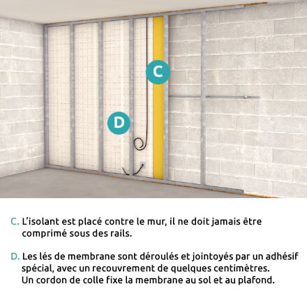 Checklist isolation mur intérieur étape 2