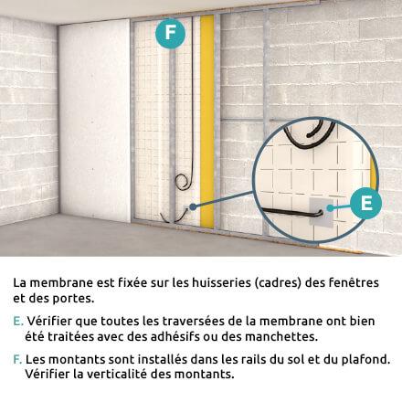 Checklist isolation mur intérieur étape 3