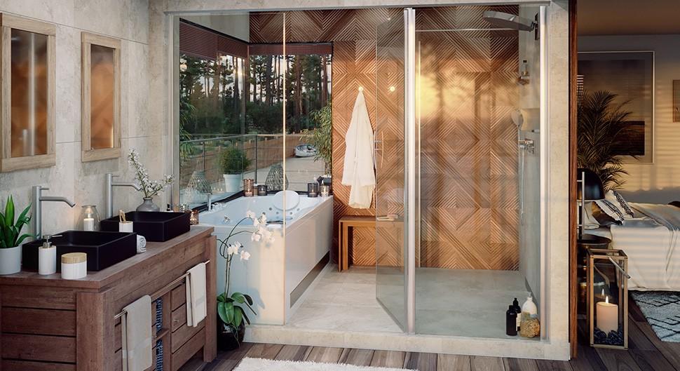 Aménager une salle de bain ouverte