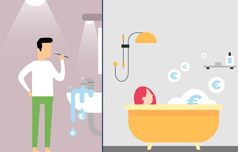 Economies d'énergie dans la salle de bain