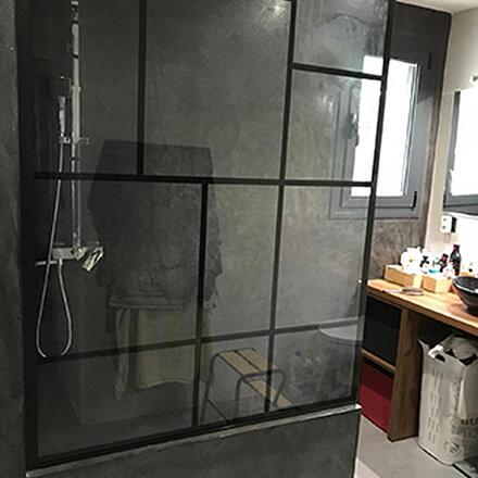Douche verrière