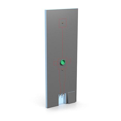 Cloison modulaire Wedi avec iBox intégré