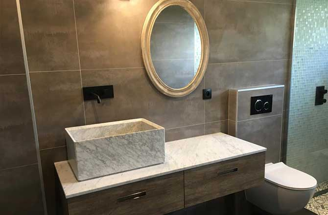 Salle de bain par Stéphane P., plombier agréé La Maison Saint-Gobain