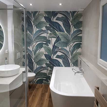 Salle de bain Carrelage Floral