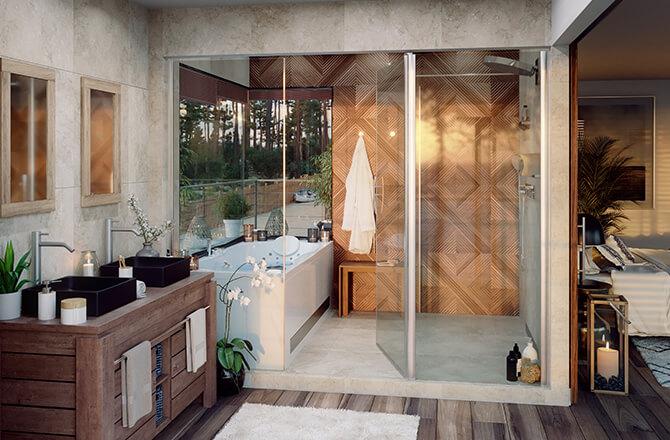 Salle de bain exotique