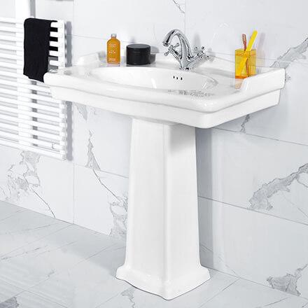 Tendance salles de bains 2021 Lavabo classique chic