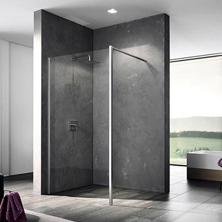 Tendances salle de bain 2021: paroi invisible