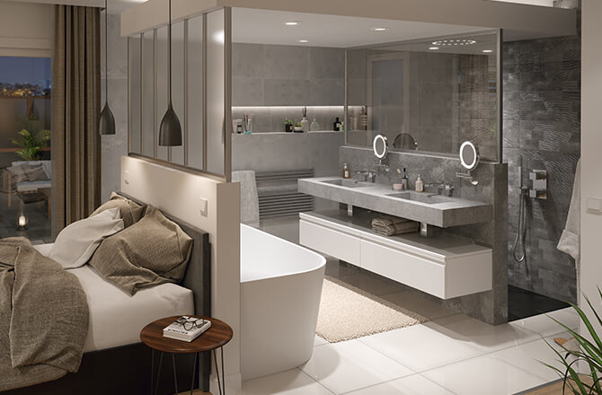 Salle de bain modern design