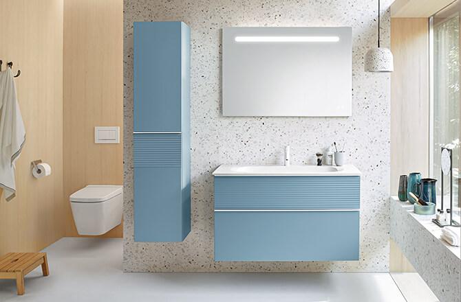 Tendances salle de bains 2021: retour en force des pastels