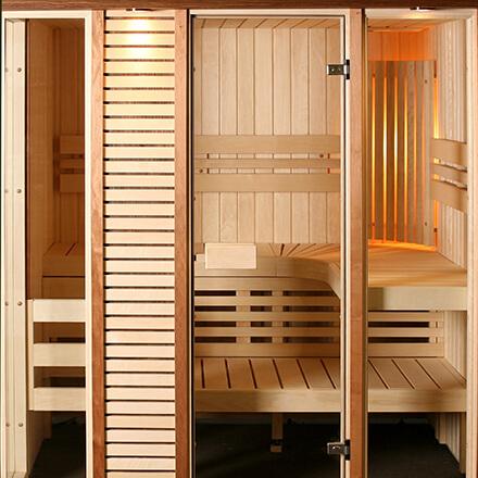 Le sauna entrée de gamme: petite cabine en bois pour 1 à 2 personnes