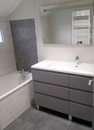 Salle de bain par Adriano M., EGB agréée La Maison Saint-Gobain
