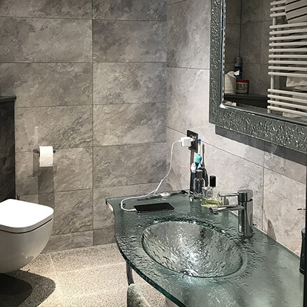 Plan vasque marbre