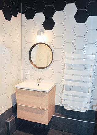 Salle de bain par Norbert H., carreleur agréé La Maison Saint-Gobain