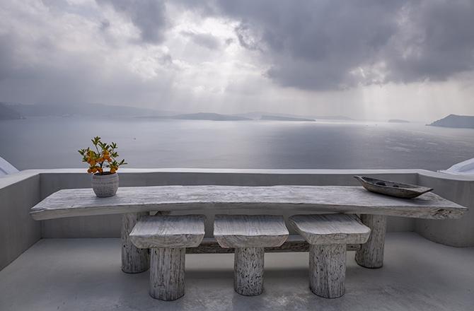 terrasse en béton ciré gris