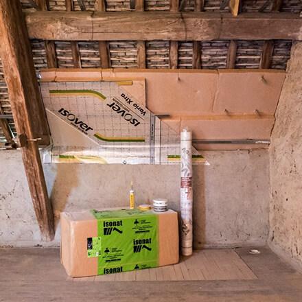 panneau de fibre et bois et membrane vario xtra