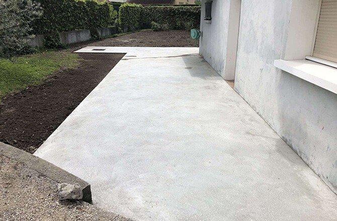 Dalle béton terrasse maçon