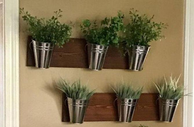 Mur végétal planche bois