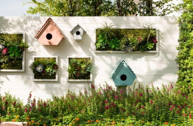 Mur végétal extérieur jardin