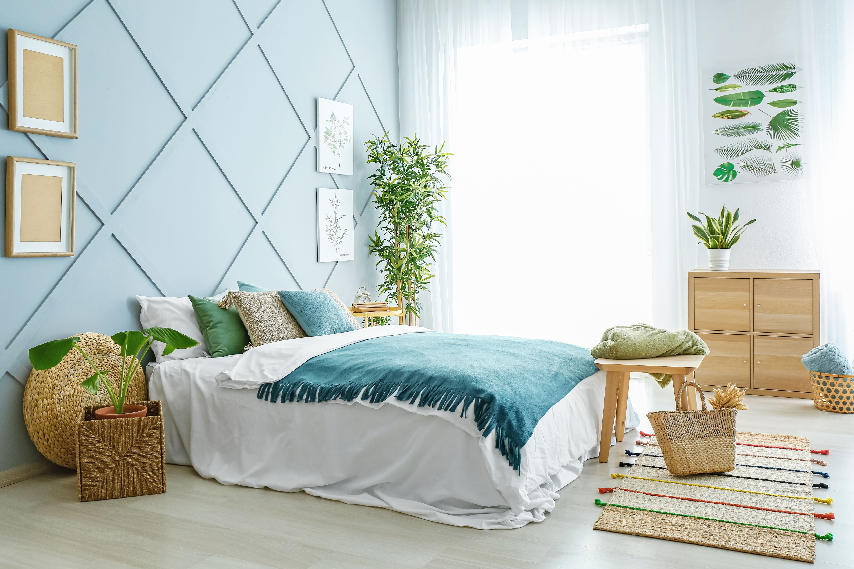 Chambre apaisante bleue
