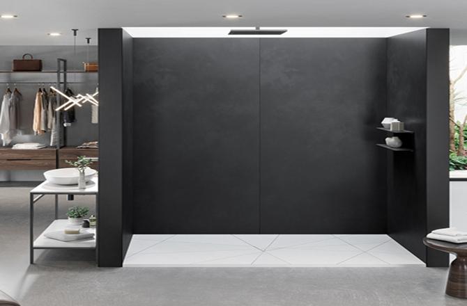 Un receveur de douche pour un style moderne design