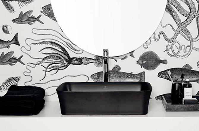 Vasque noire design