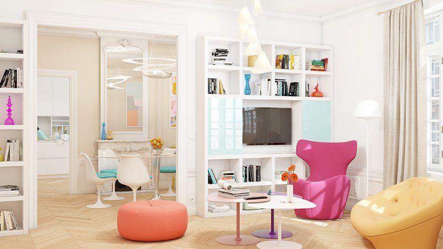 Agrandir visuellement l'espace avec du mobilier aux couleurs vives