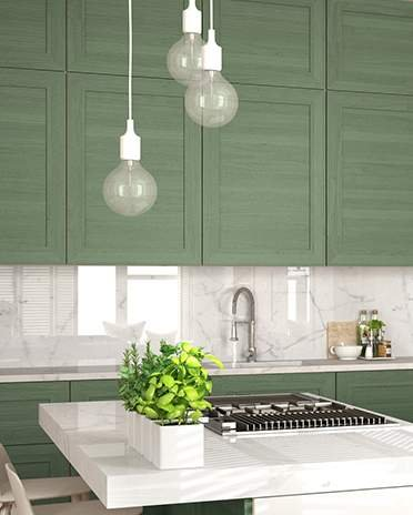 cuisine verte et blanche