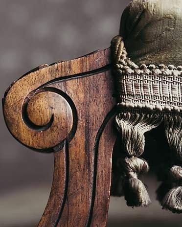 Style Classique-chic - détail fauteuil Voltaire - Saint-Gobain.fr
