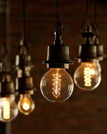 Style industriel - Lampes à incandescence - Saint-Gobain.fr