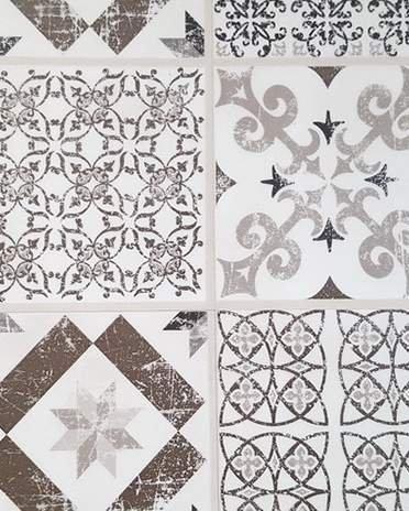 Style Campagne-chic - carreaux ciment - La Maison Saint-Gobain