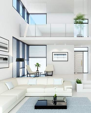 Style moderne design - Salon et mezzanine - Saint-Gobain.fr