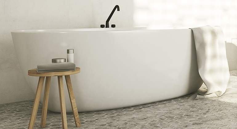 Style scandinave - baignoire - La Maison Saint Gobain