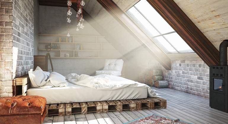 Style industriel - chambre sous combles - Saint-Gobain.fr