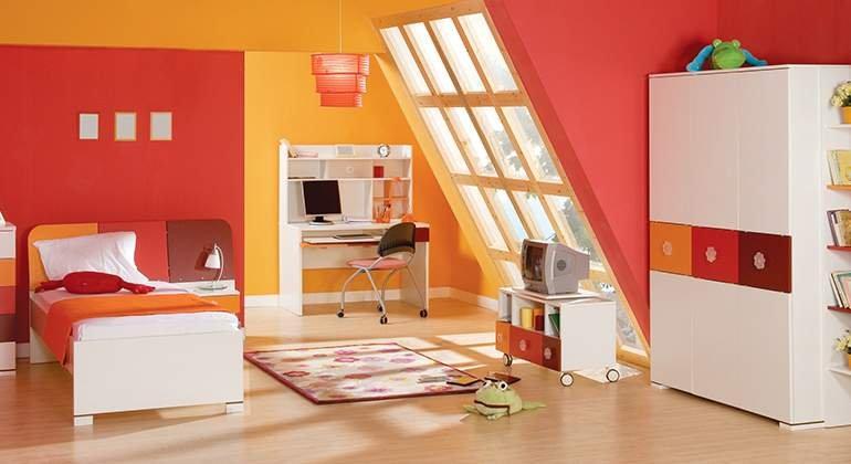 Style pop - chambre sous combles - Saint-Gobain.fr